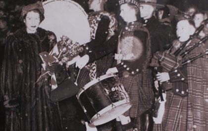 JIm playing for Princess Elizabeth in 1951
