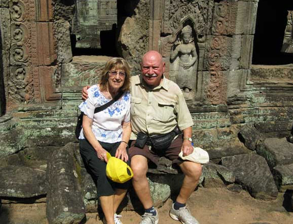 jim and joan McWilliams in angor wat